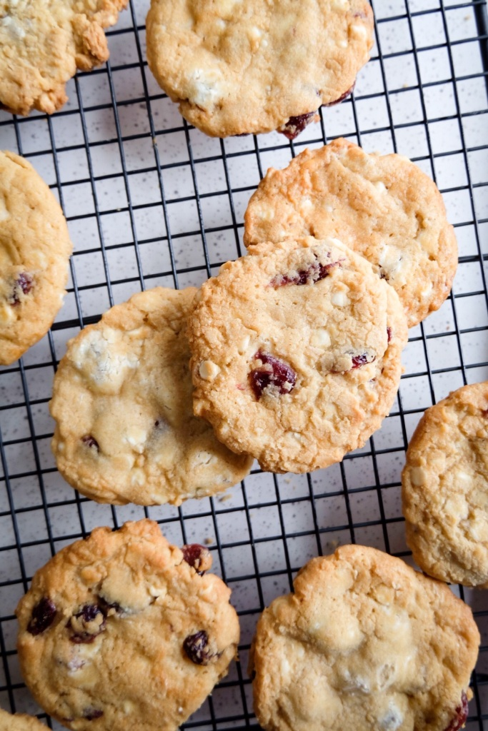 Cranberry White Chocolate Soft Baked Cookies