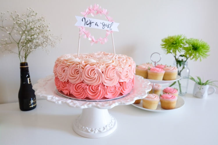 Ombre Cake (Baby Shower)